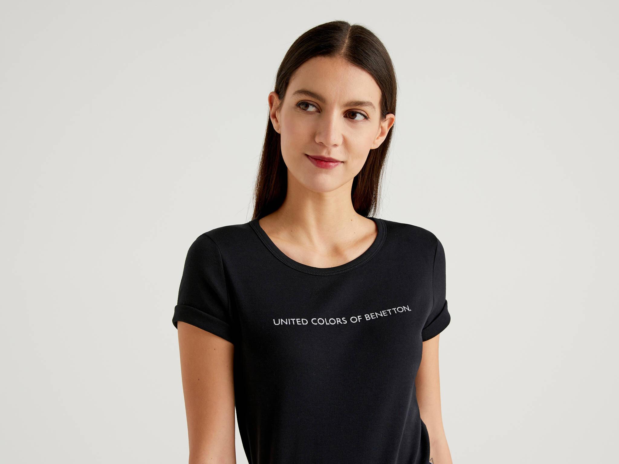 Benetton Yazılı Basic Tshirt