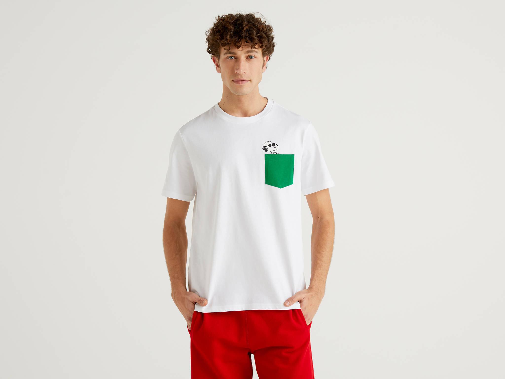 Snoopy Cep Detaylı Tshirt