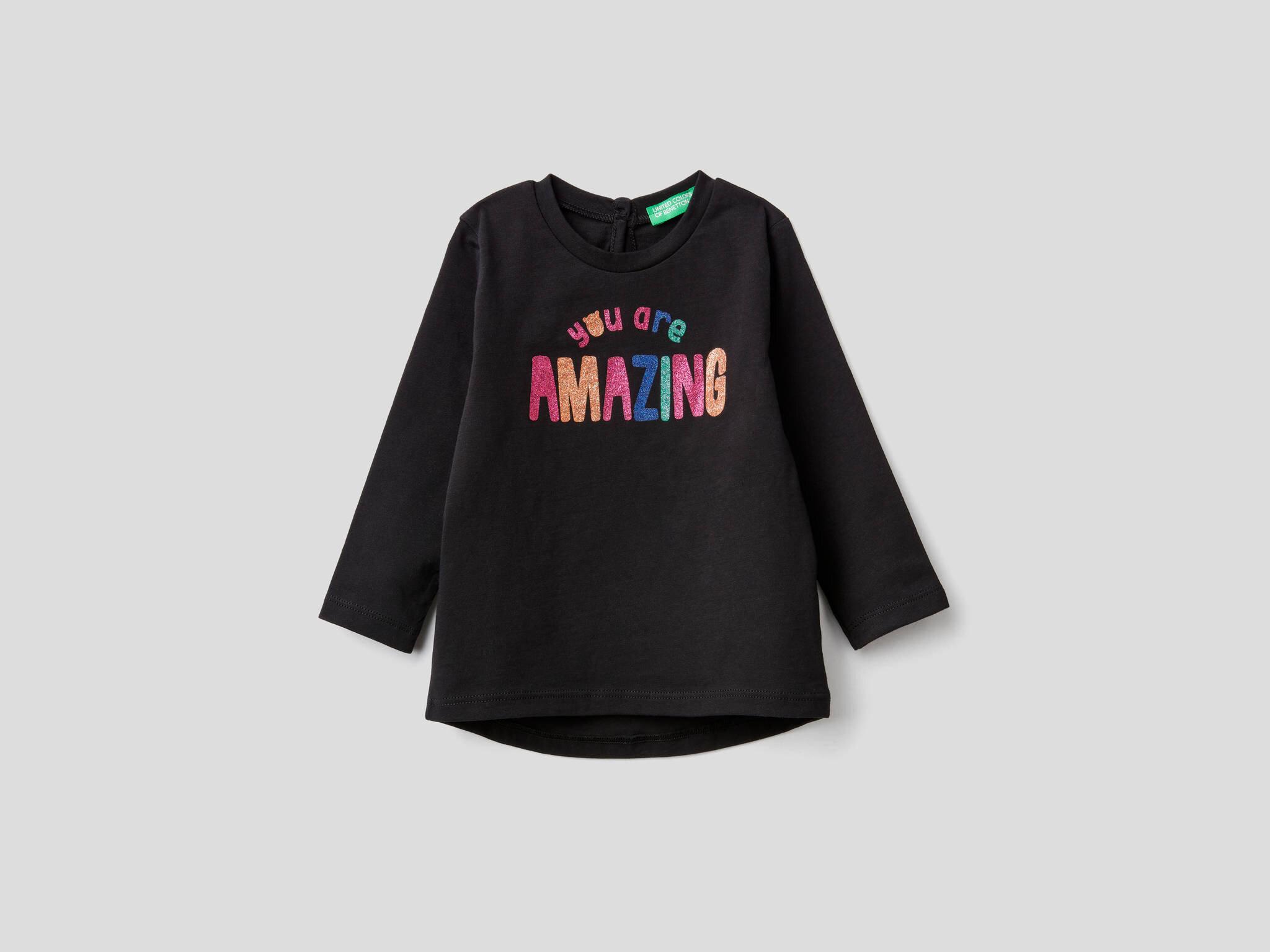 Renkli Yazı Baskılı Tshirt