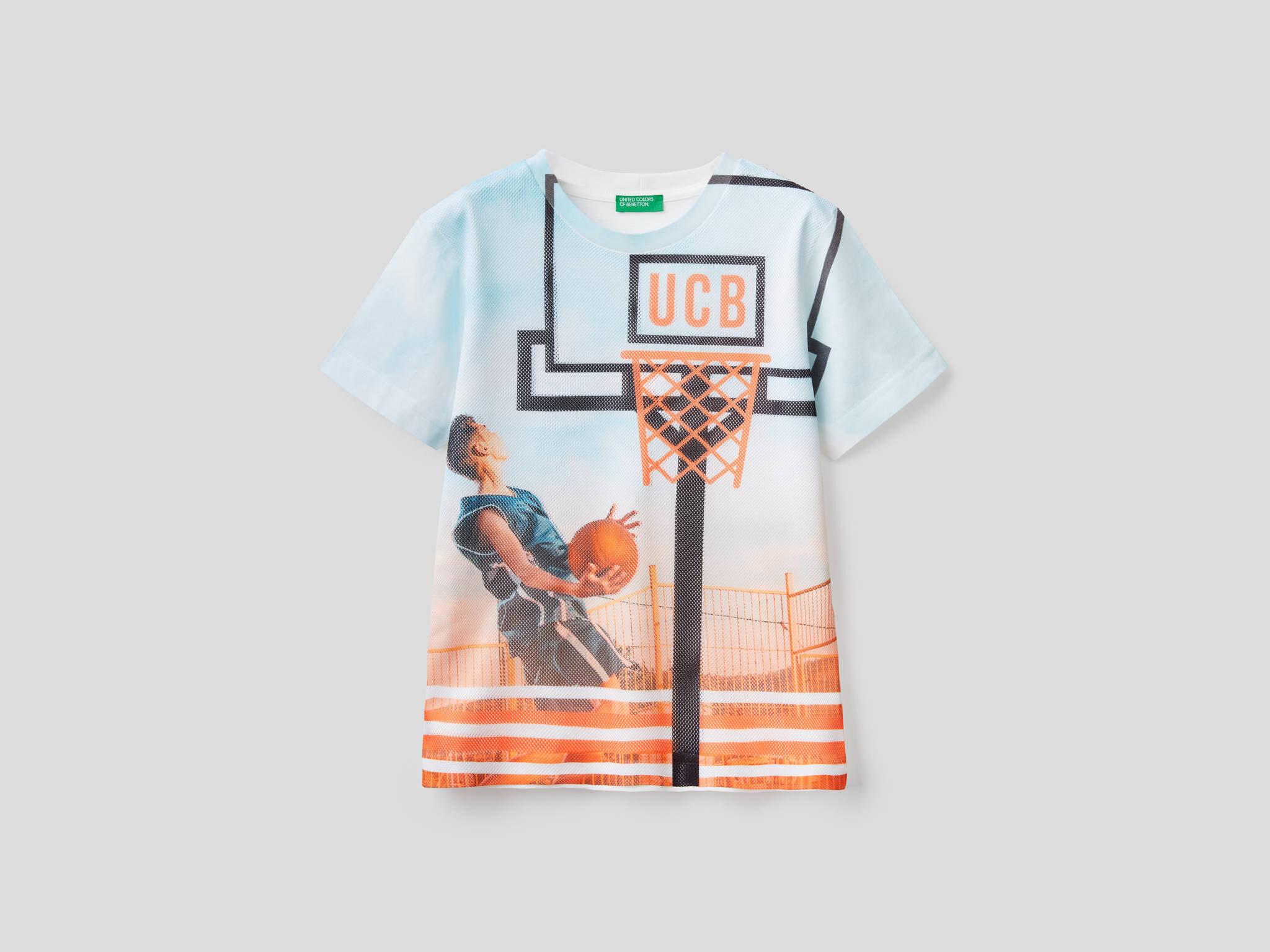 Fotografik Basket Baskılı Tshirt