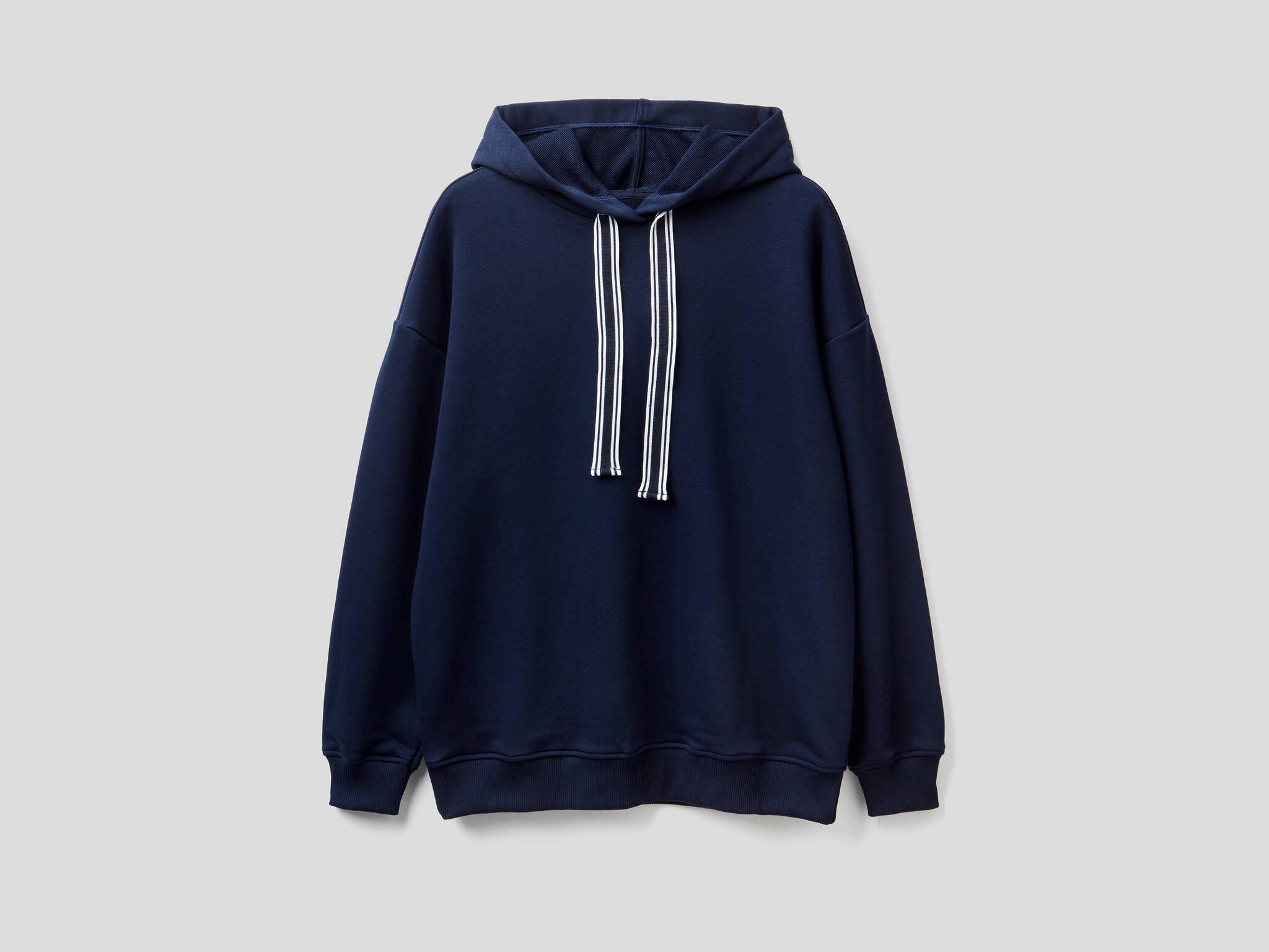 Kapüşonlu Uzun Sweatshirt