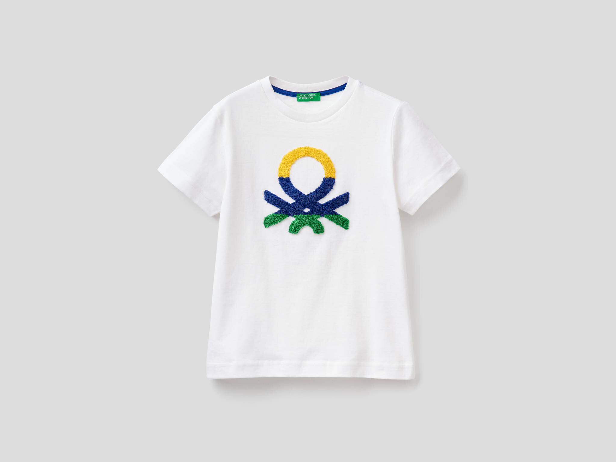Kabartma Benetton Logolu Tshirt