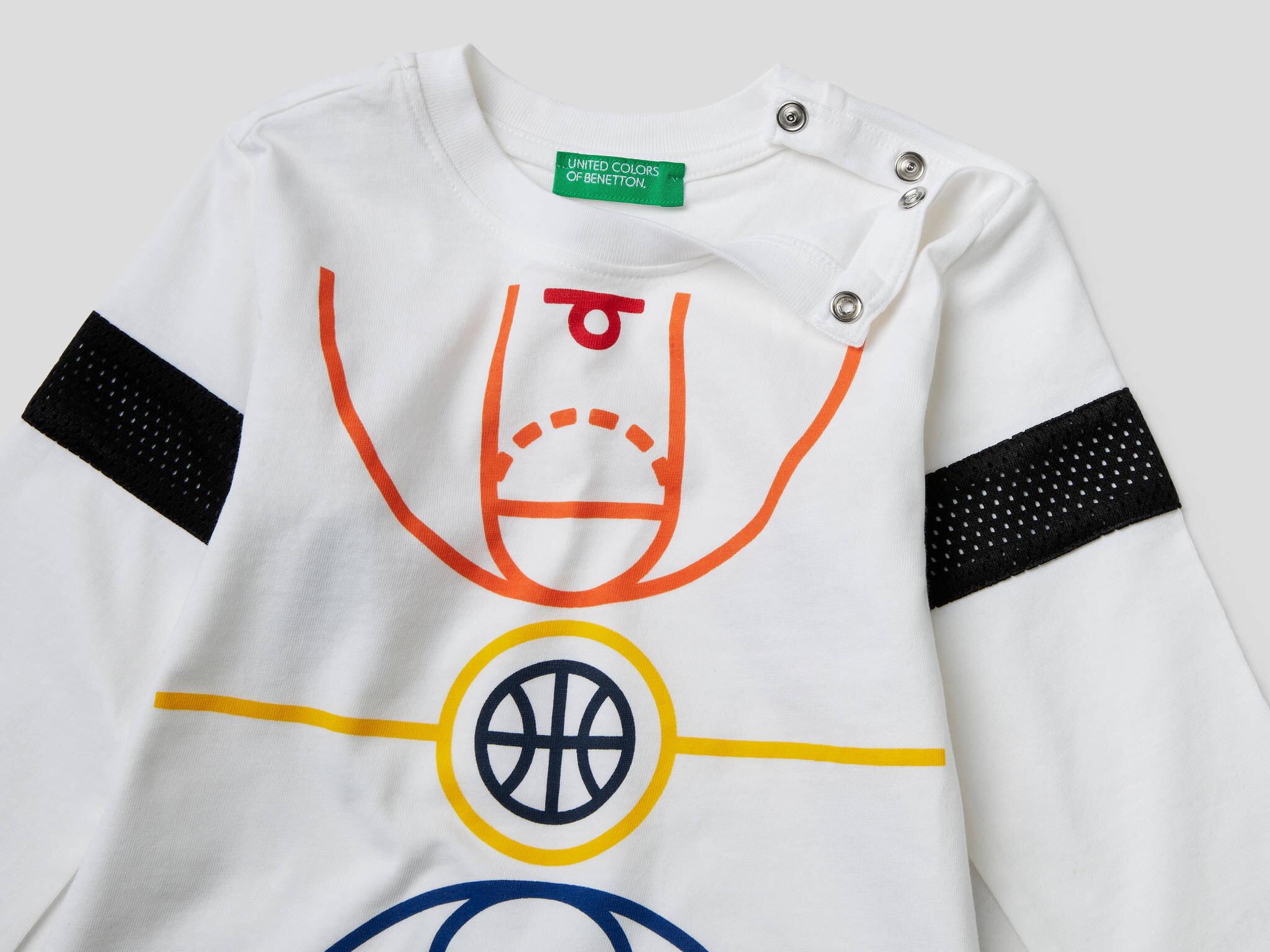 Basket Sahası Baskılı Tshirt