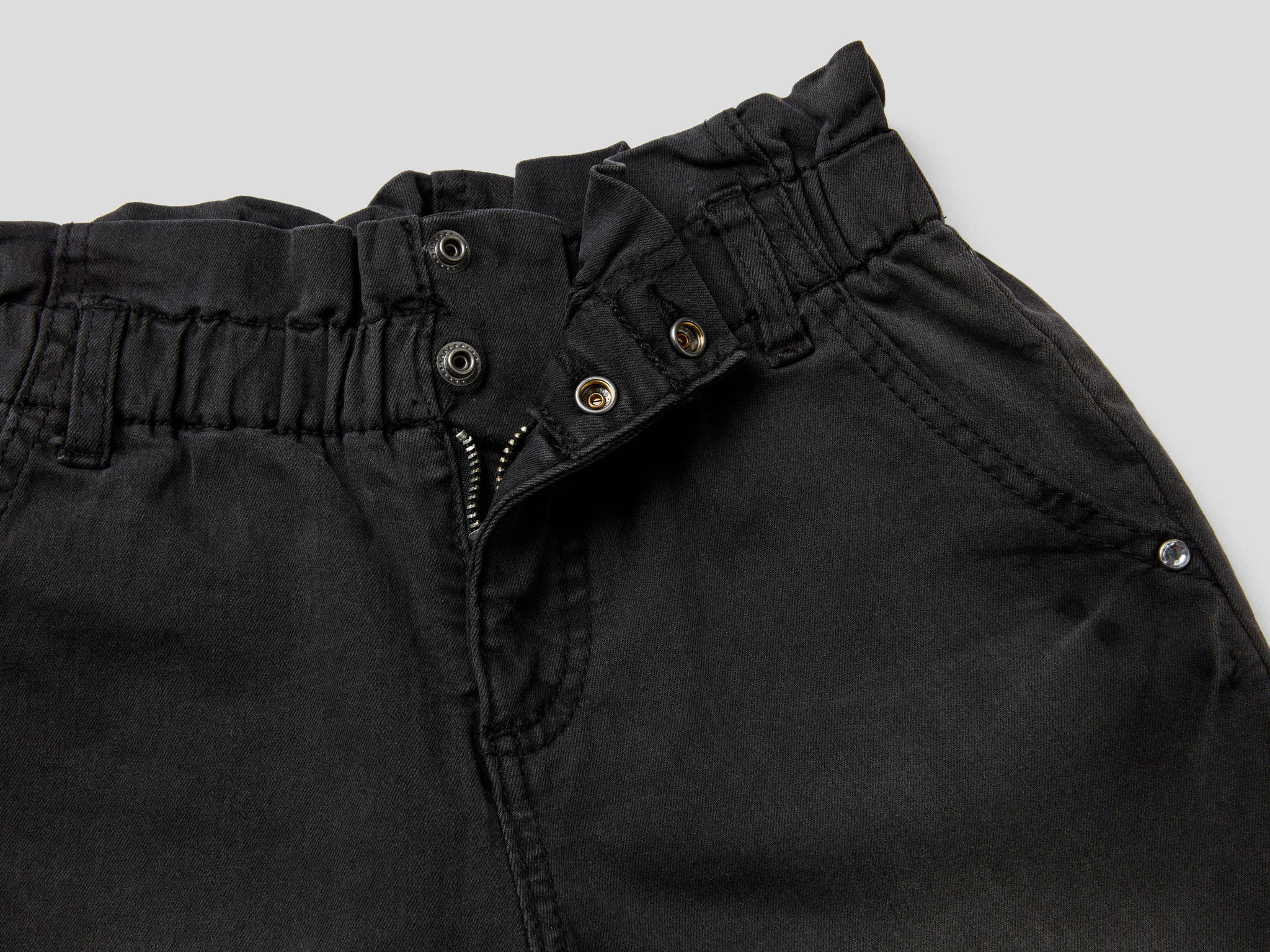 Paperbag Denim Pantolon
