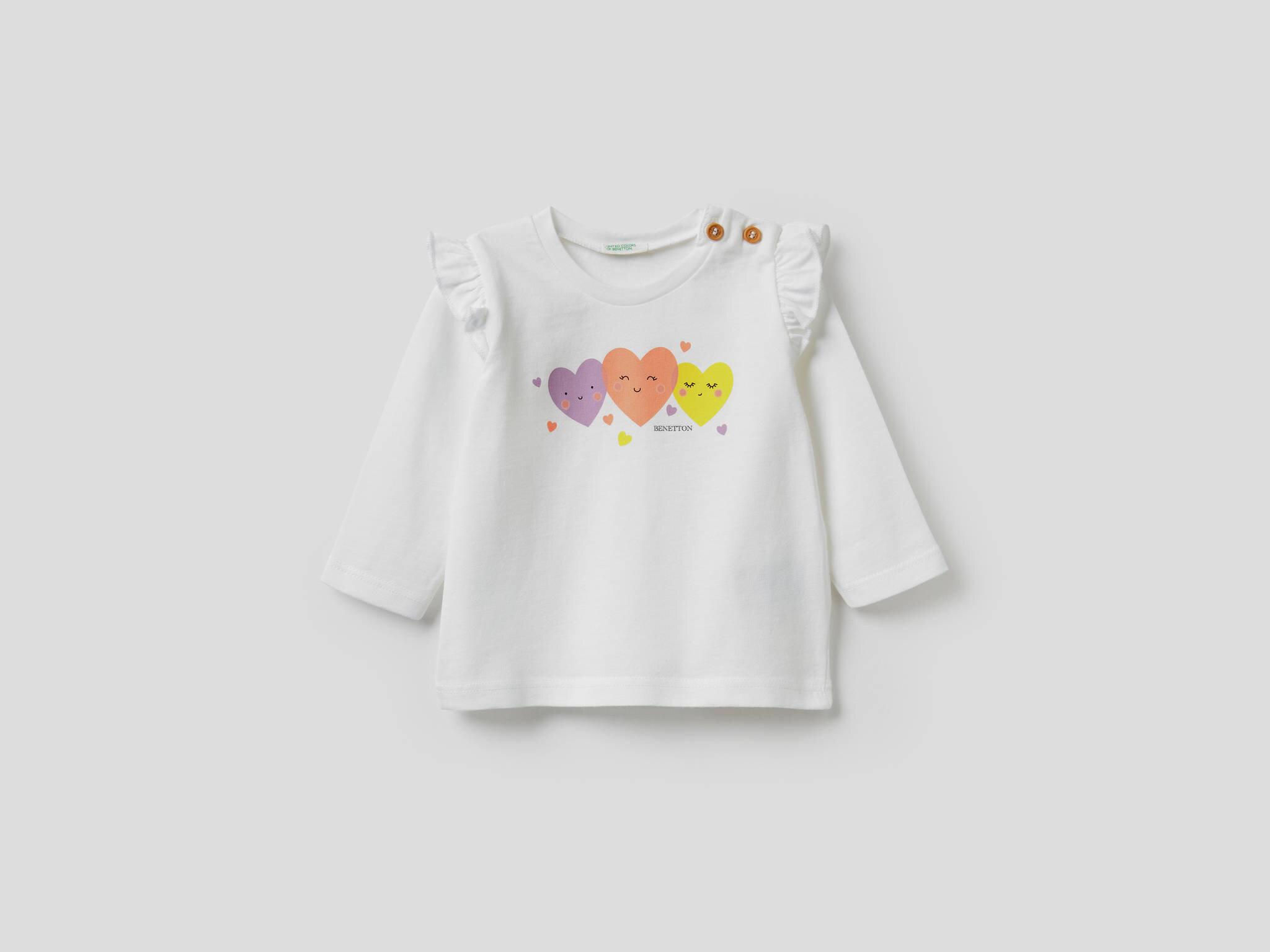 Kalp Baskılı Tshirt