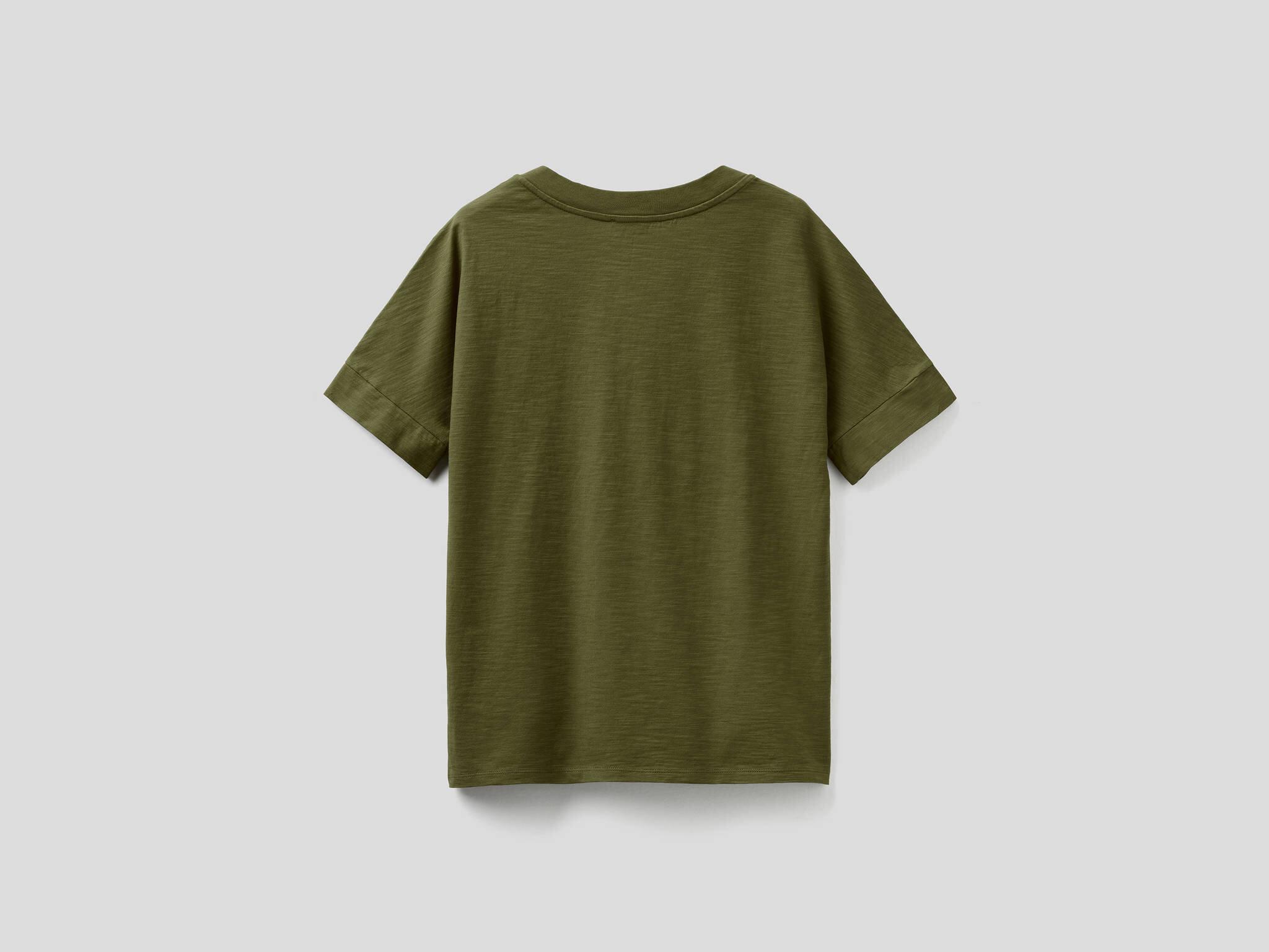 V Yaka Slub Tshirt