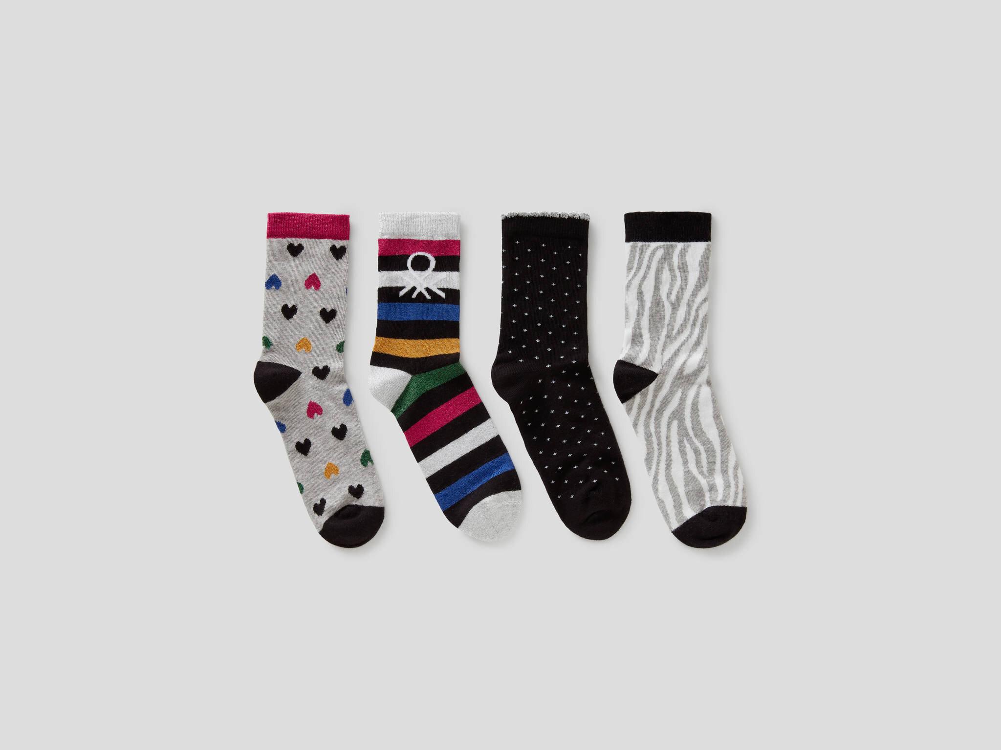 4lü Desenli Soket Çorap