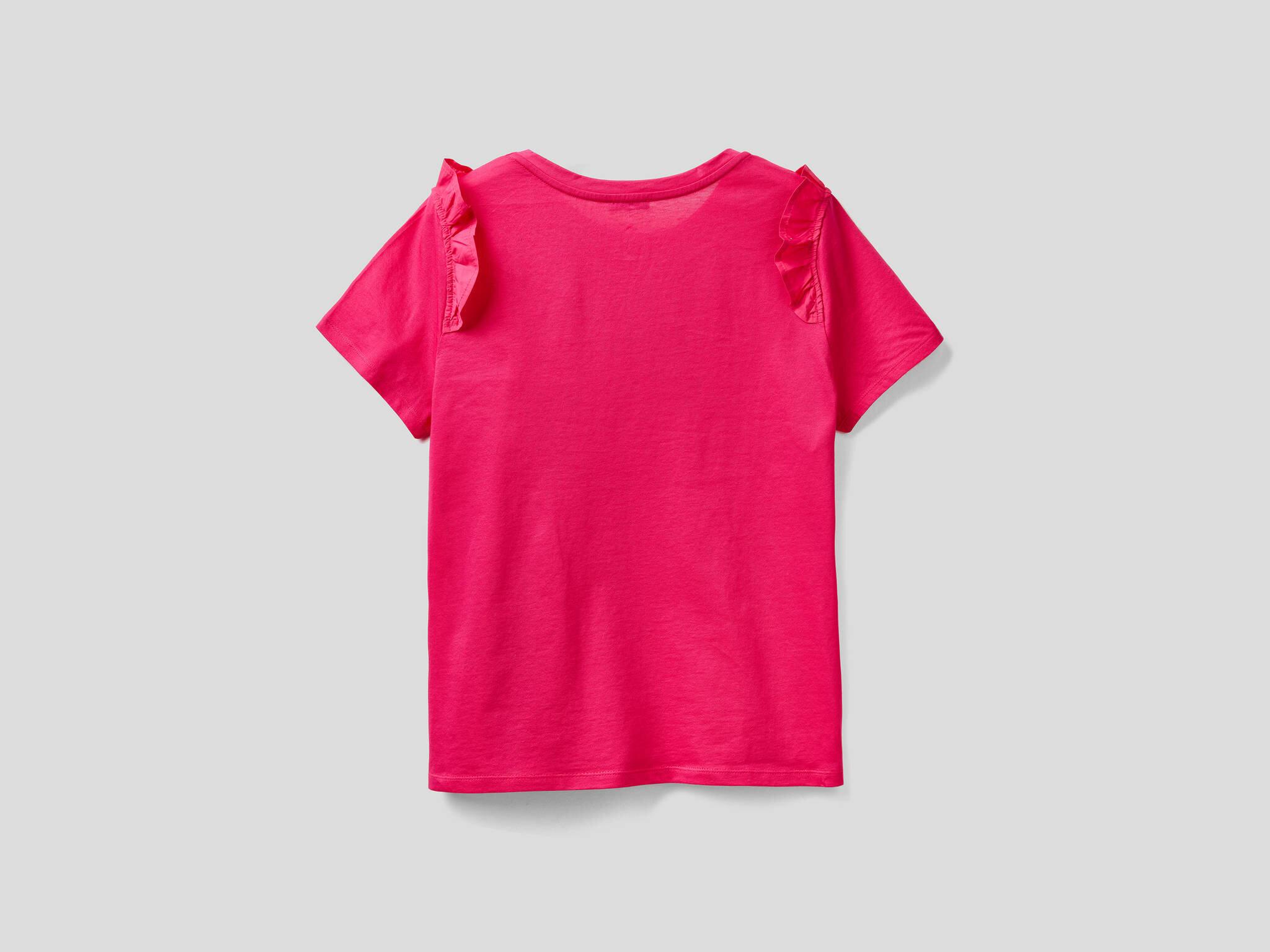 Omzu Fırfırlı Tshirt