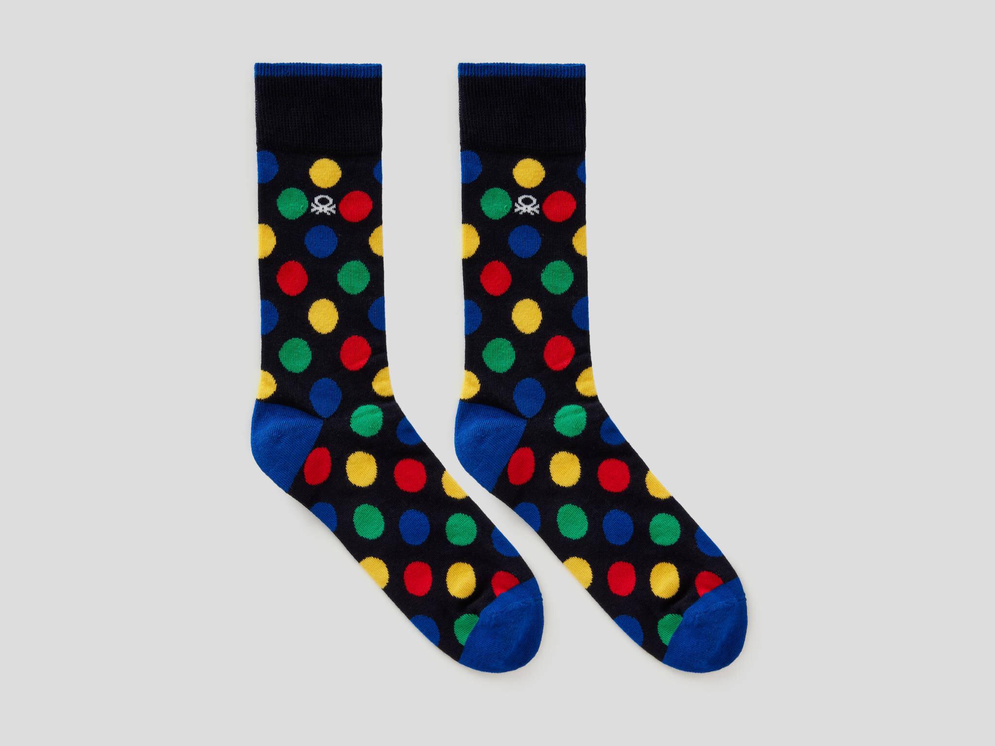 Benetton Logolu Renkli Çoraplar