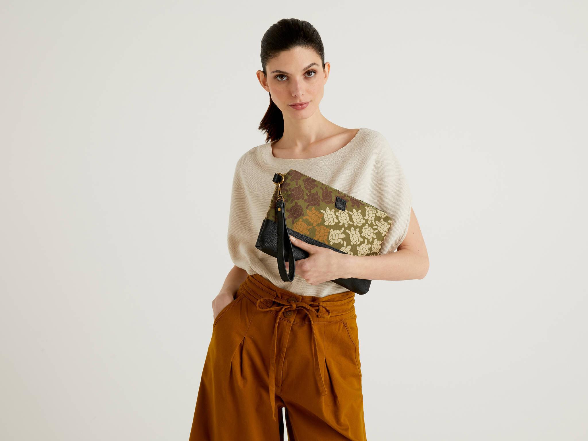 Fermuarlı Clutch Çanta