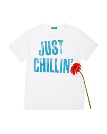 Fluo Slogan Yazılı Tshirt