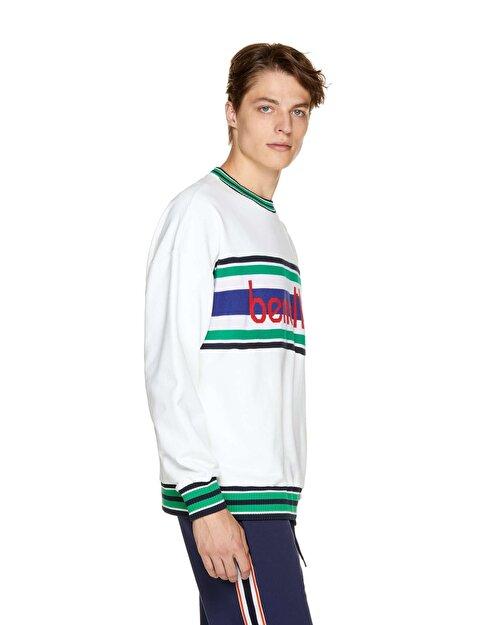 Logo Şeritli Sweatshirt