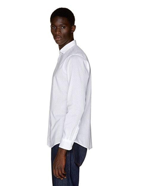 Slim Fit Desenli Gömlek