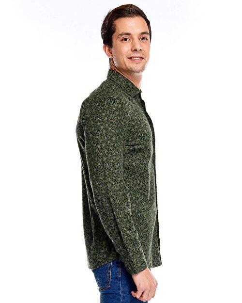 Metraj Baskılı Gömlek