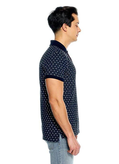 Desenli Kısa Kollu Polo Tshirt