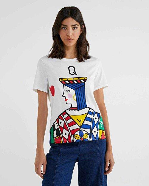 İskambil Baskılı Tshirt
