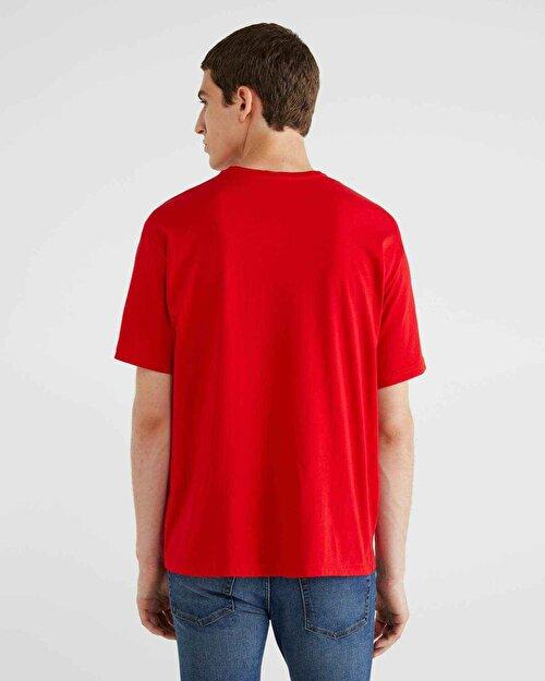 Şerit Logo Baskılı Tshirt