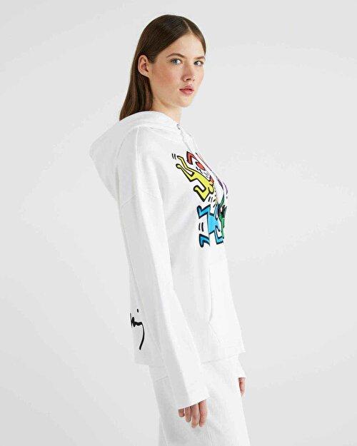 Keith Haring Tasarım Baskılı Sweatshi