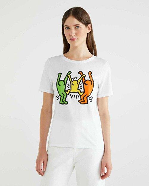 Keith Haring Tasarım Baskılı Tshirt