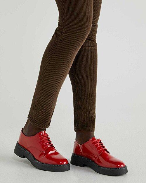 %100 Deri Bağcıklı Ayakkabı