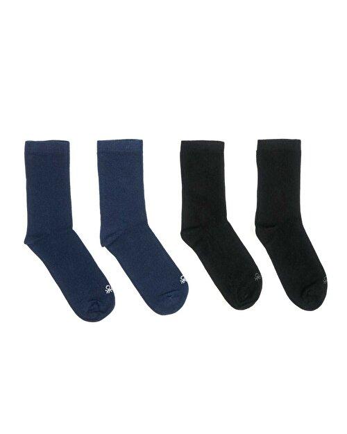 Unisex 4 Çift Organik Pamuk Çorap