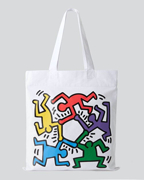 Keith Haring Tasarım Baskılı Çanta