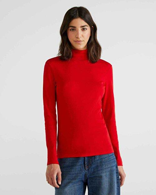 %100 Pamuk Boğazlı Tshirt