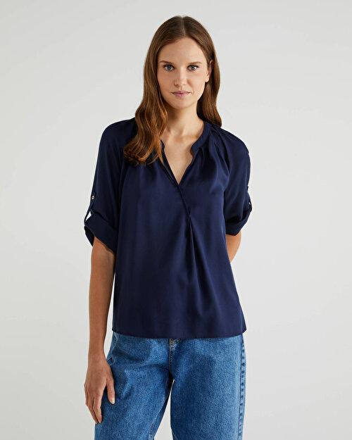 Apolet Detaylı Liyosel Bluz