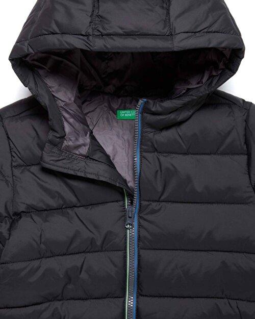 Benetton Logo Kalın Dolgu Mont