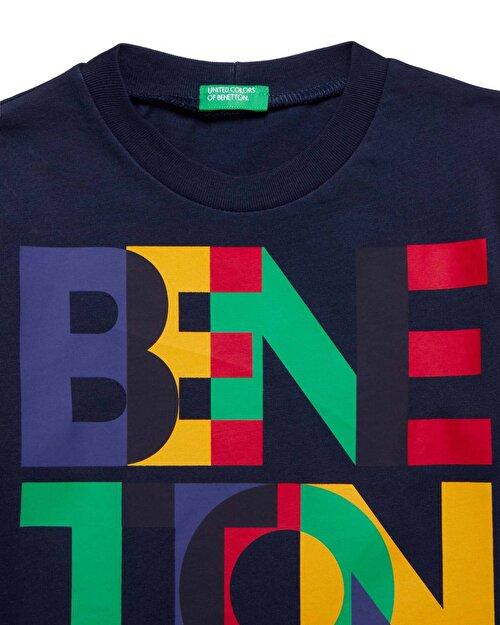 Benetton Yazılı Tshirt