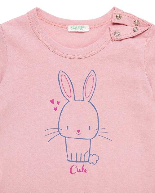 Tavşan Baskılı Tshirt