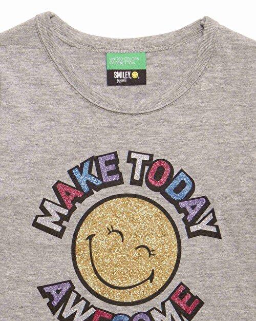 Glitter Smile Baskılı Tshirt