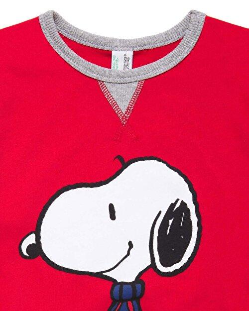 Snoopy Desenli Pijama Takım