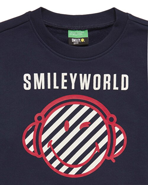 Smiley Baskılı Sweatshirt