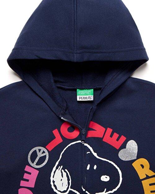 Snoopy Baskılı Sweatshirt