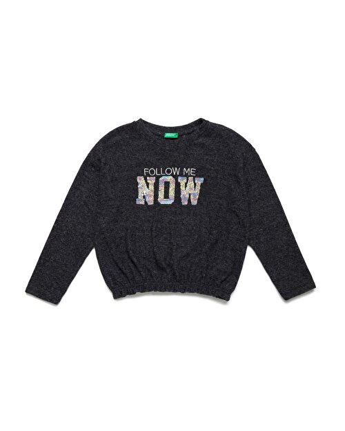 Now Yazılı Crop Sweatshirt