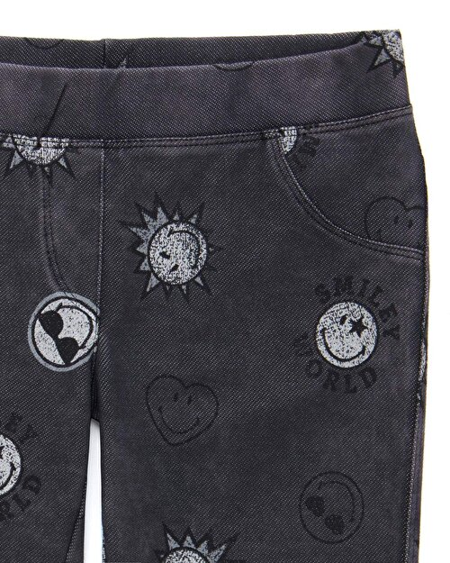 Smiley Desenli Jegging
