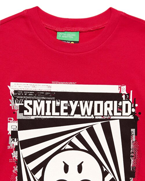 Smiley Grafikli Tshirt