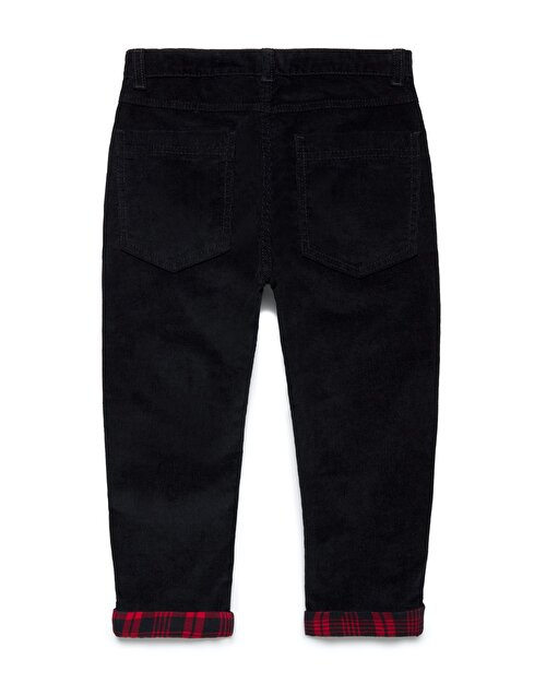 Ekose Paça Detaylı Pantolon