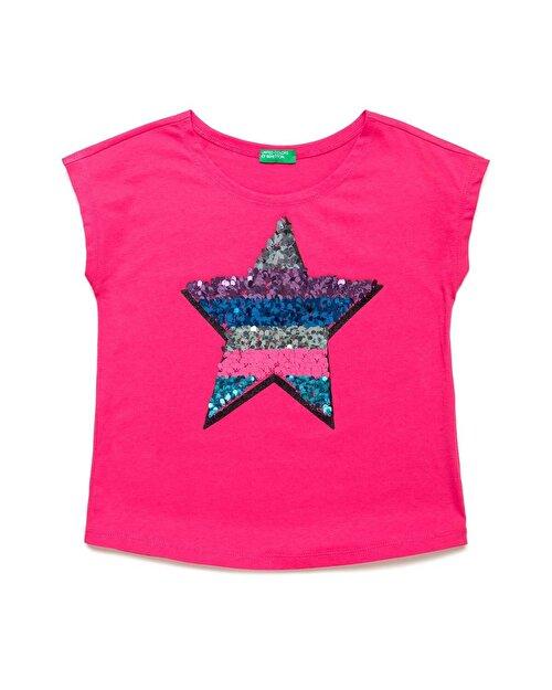 Simli Payetli Yıldız Tshirt