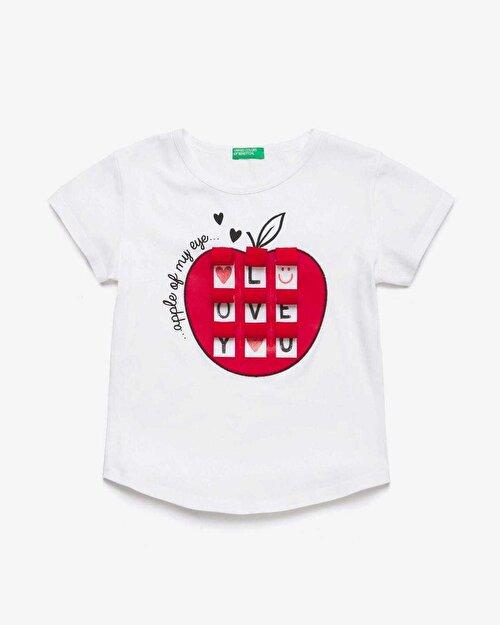Elma Baskılı Tshirt