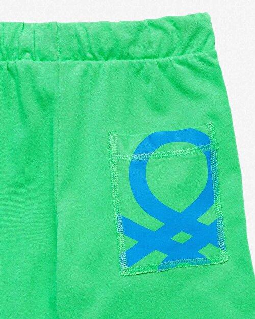 Benetton Logo Bermuda Şort