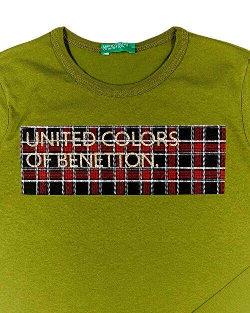 Ekose Desenli Baskılı Tshirt