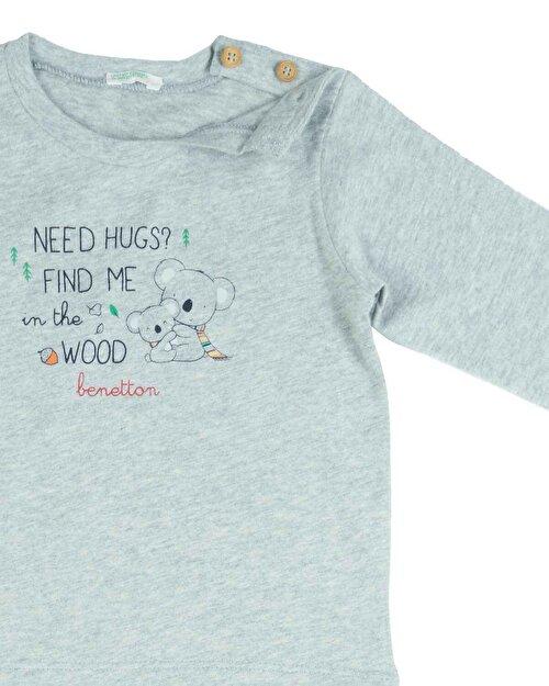 Koala Yazı Baskılı Tshirt