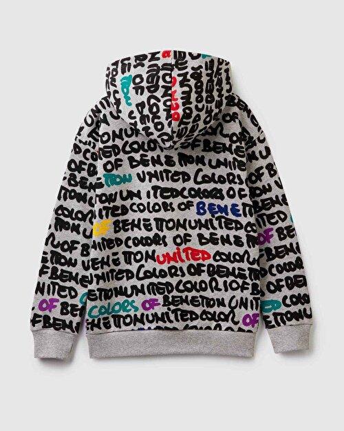Grafiti Yazı Sweatshirt