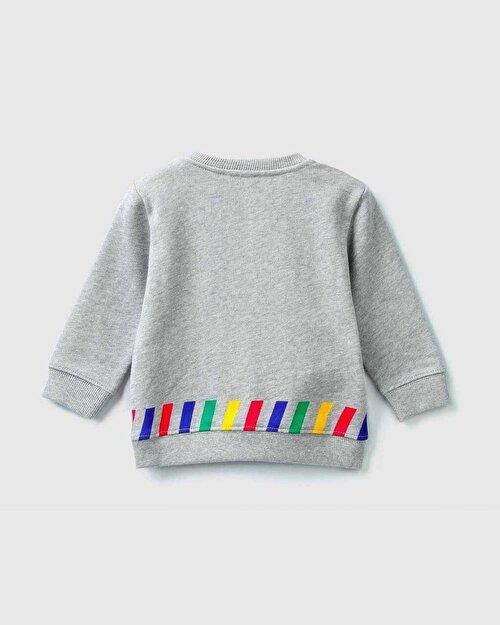 Europe Yazı Baskılı Sweatshirt