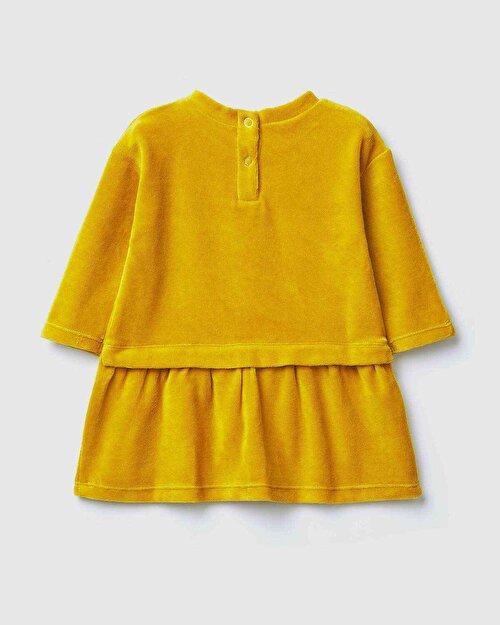 Şato İşlemeli Kadife Elbise