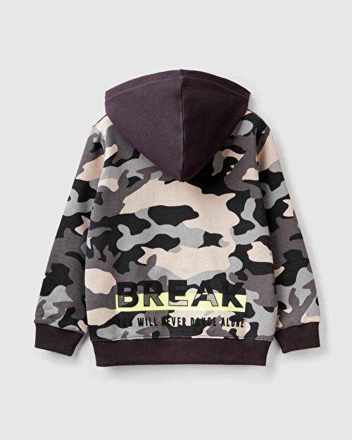 Break Yazılı Desenli Sweatshirt
