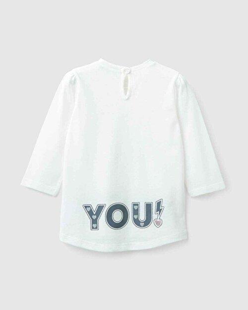 Rock You Yazı Baskılı Tshirt