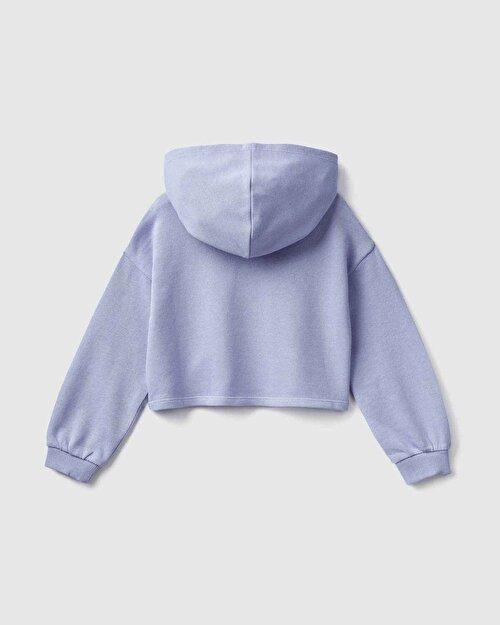 Yazı Baskılı Boxy Sweatshirt